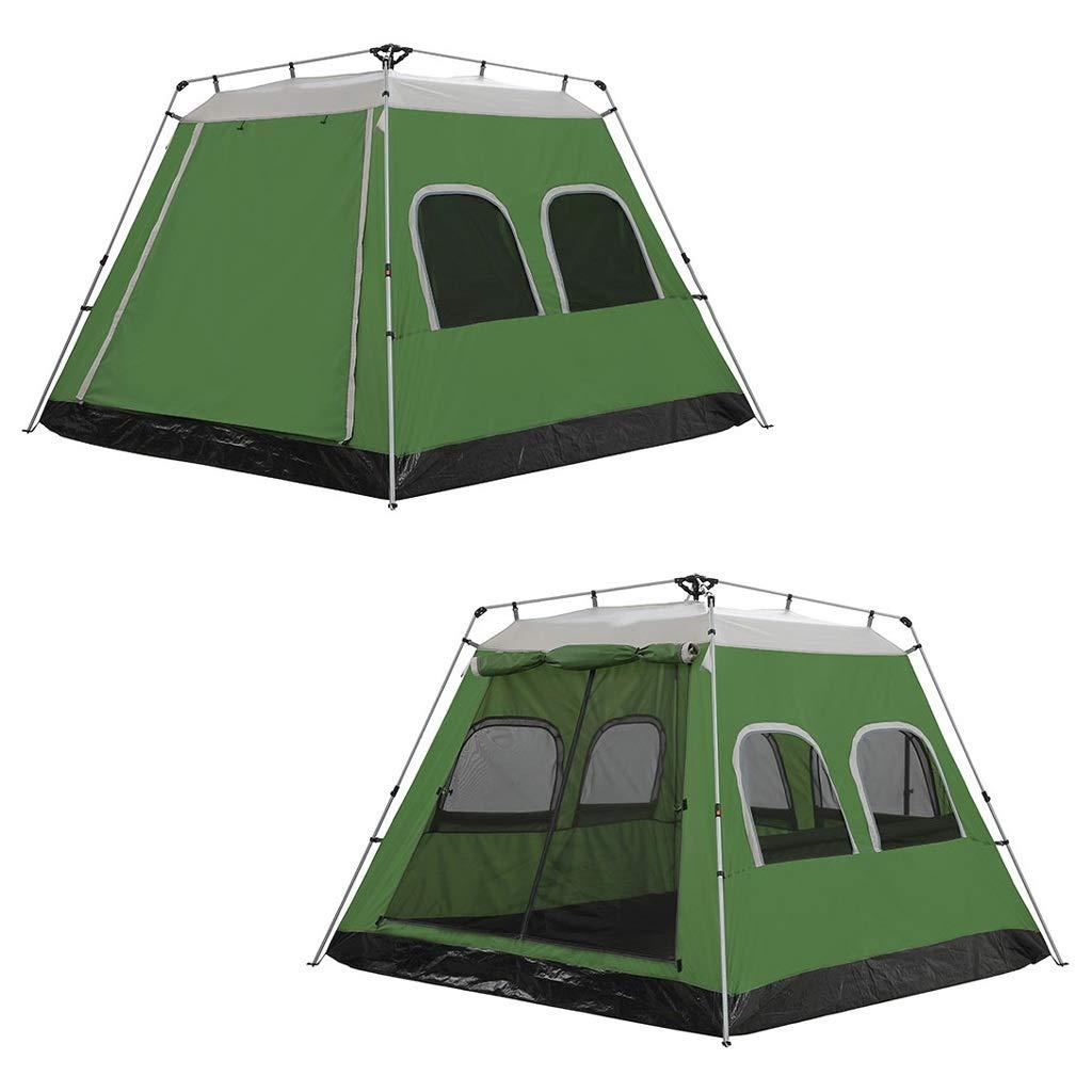 CATRP Marke Groß 5-8 Person Hydraulisches Zelt Automatik Pop-up Sofortig Sofortig Sofortig Wasserdicht Camping Zelt, 2 Farben (Farbe   Grün) B07P8Z6GQS Kuppelzelte Elegante Form 75a59c