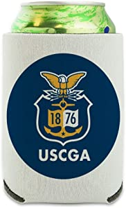 U.S. Coast Guard Academy Official Bears Logo Can Cooler - Drink Sleeve Hugger Collapsible Insulator - Beverage Insulated Holder