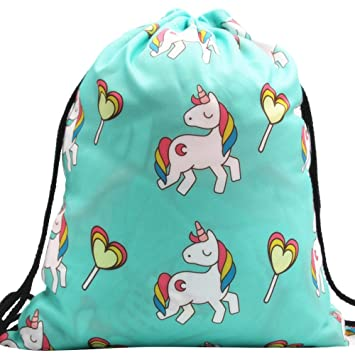279d4abf4384 Hotsellhome New 17 Colours Unisex Small Backpack Gym Tie-dyed Drawstring Tote  Bags Women 3D