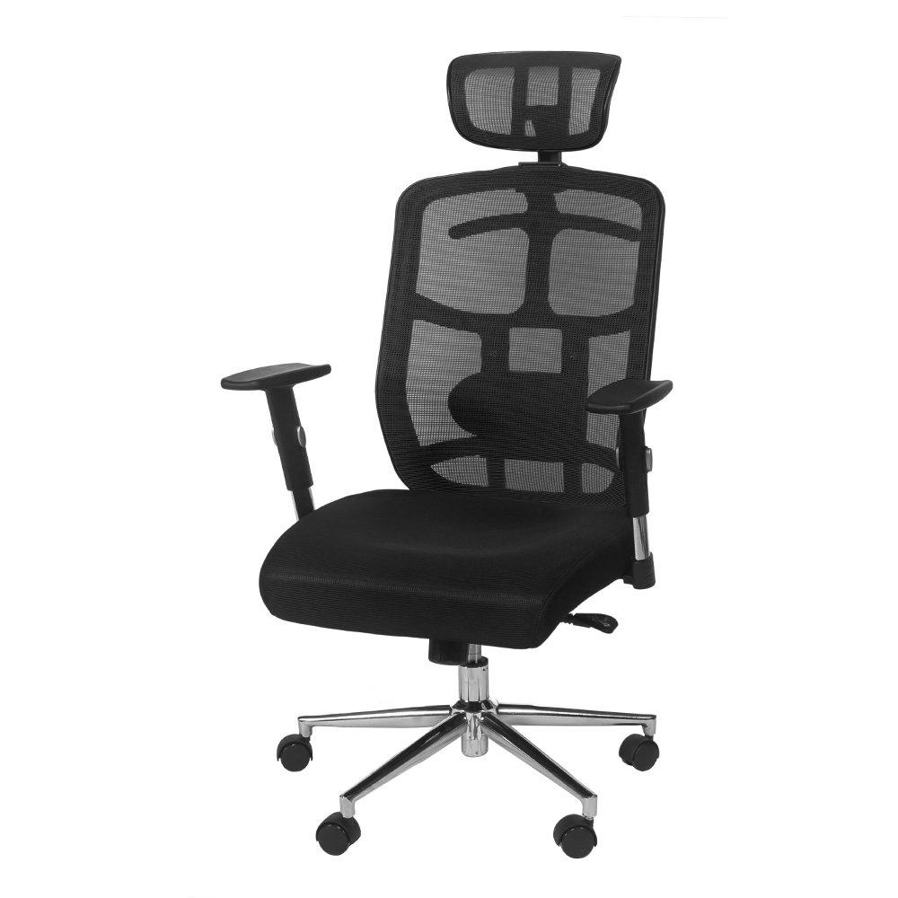 TOPSKY Mesh Computer Office Chair Ergonomic Design Chair Skeletal Back Synchronous Mechanism(Black) Hanger function