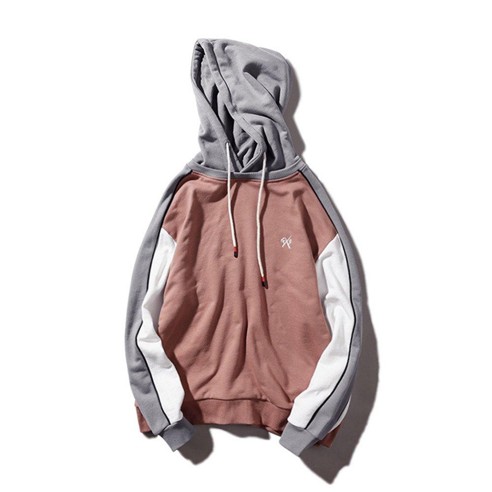 Ndsoo Kapuzenpullover im japanischen Stil Winter männer vermummte männer, Junge Studenten Kopf Pullover,Die Farbe der Erde,M