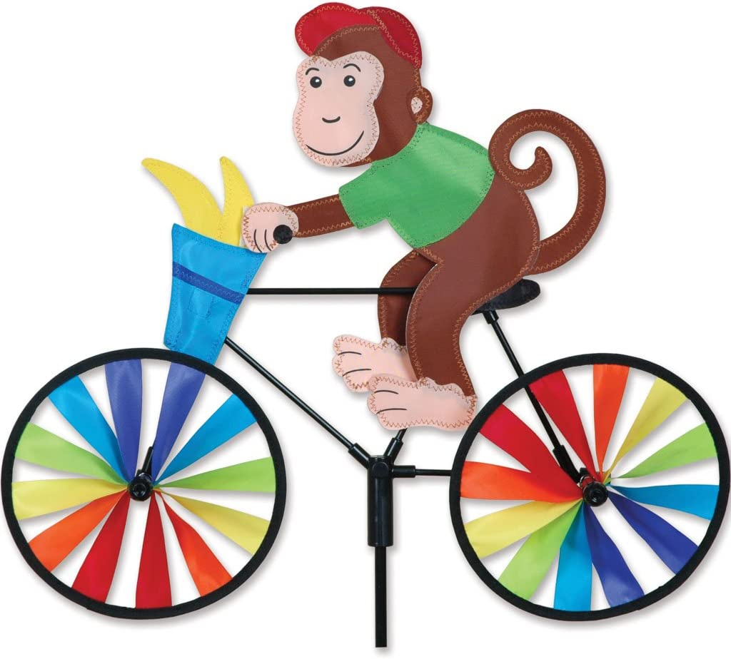 Premier Kites 20 in. Bike Spinner - Monkey
