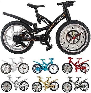 Takestop® - Reloj despertador de mesa con forma de bicicleta, con música, alarma analógica, para el hogar o la oficina, color aleatorio: Amazon.es: Electrónica