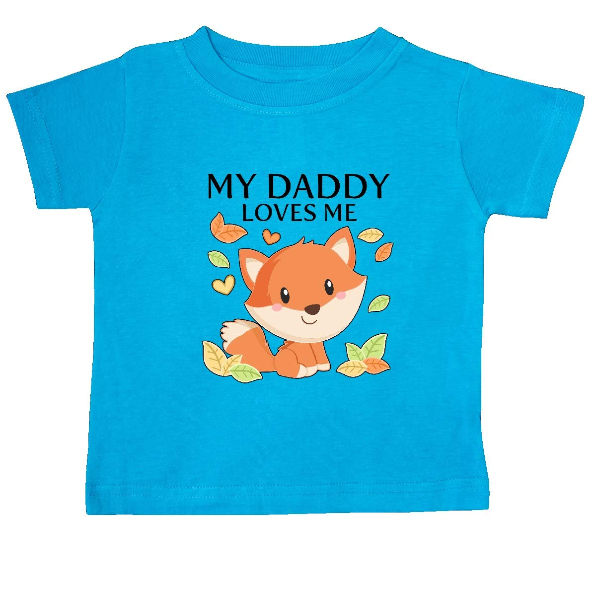 inktastic My Daddy Loves Me Little Fox Baby T-Shirt