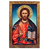 Pantocrator (Christ the Teacher) Greek Painted Icon