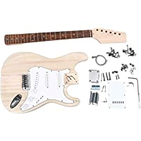 SWAMP DIY Build Your Own Electric Guitar Kit Stratocaster Style Basswood Body