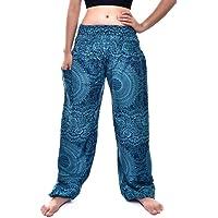 Bohotusk Pantalones de harén bohemios para niños, cintura elástica fruncida, estilo hippy, bohemio, para niños, hippie…