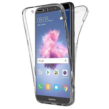 COPHONE Funda Huawei P Smart, Transparente Silicona 360°Full Body Fundas para Huawei P Smart Carcasa Silicona Funda Case