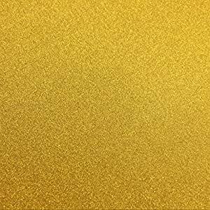 "levylisa 10 Sheets Large 11.8"" x 11.8"" Glitter Self-Adhesive Sticker Sticky back Paper Craft Art Sparkling Sign Gemstone Metallic Color Diy Gift (Gold)"