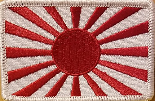 Japan Flag Patch With VELCRO Brand Fastener Japanese Empire