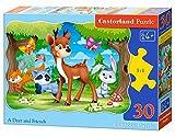 Castorland B-03570 Classic A Deer and Friends Contour Jigsaw Puzzle, 30 Pieces Set, Multicolour