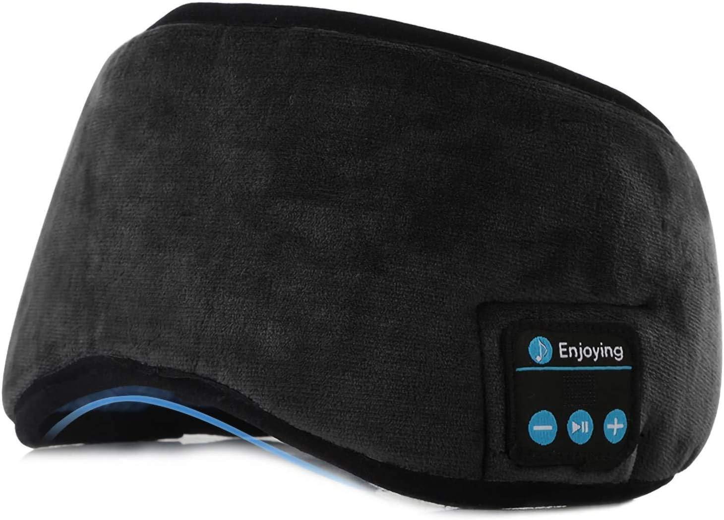 Schlaf 3D-Augenmaske mit ultrad/ünnen HD-Stereolautsprechern waschbares und verstellbares Stirnband f/ür Sport Nickerchen Yoga und Flugreisen Schlafmaske mit Bluetooth 5.0-Kopfh/örern