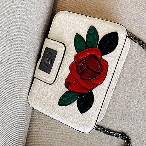 Bag Chain Handbag Satchel Bag Flag Fashion 830 Women Bag Shoulder Cross White Monique body 8ZwqXn