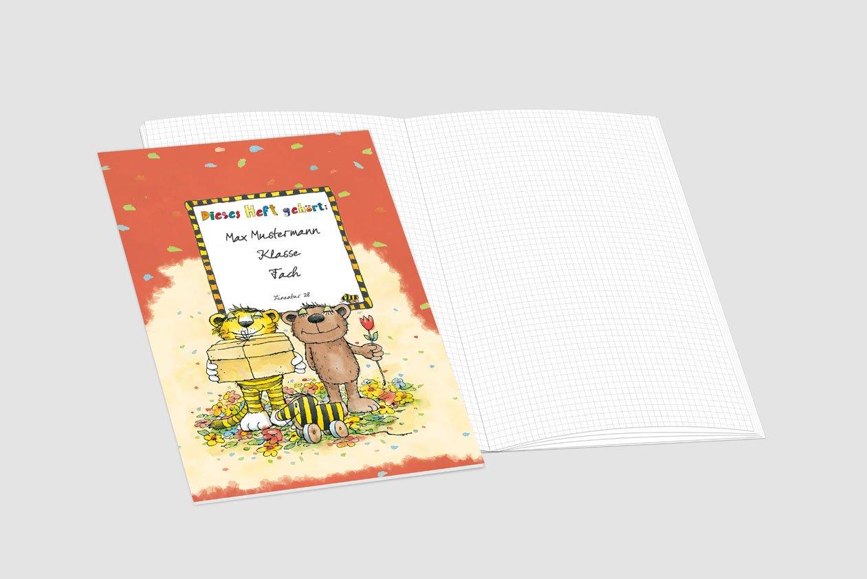 24 24 24 lustige JANOSCH-Schulhefte A4, »Tigonaut«, Lineatur 28, Pistaziengelb, personalisierbar, 32 Seiten B076V5V48Y | Günstig  | Verschiedene aktuelle Designs  | Abgabepreis  cd5163