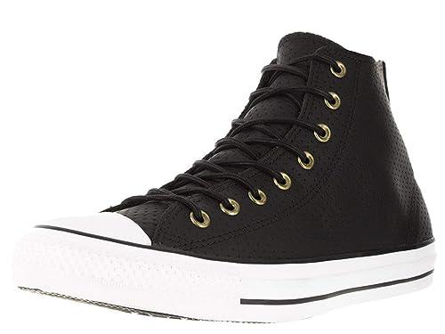 55afa8027e5d86 Converse 151248C Chuck Taylor Leather Unisex Hi Top Basketball Boots -  Black Biscuit UK 5