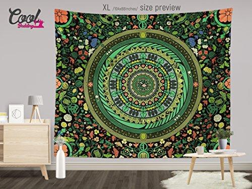 Mandala Tapestry Zen Garden, Boho Wall Hanging, Bohemian