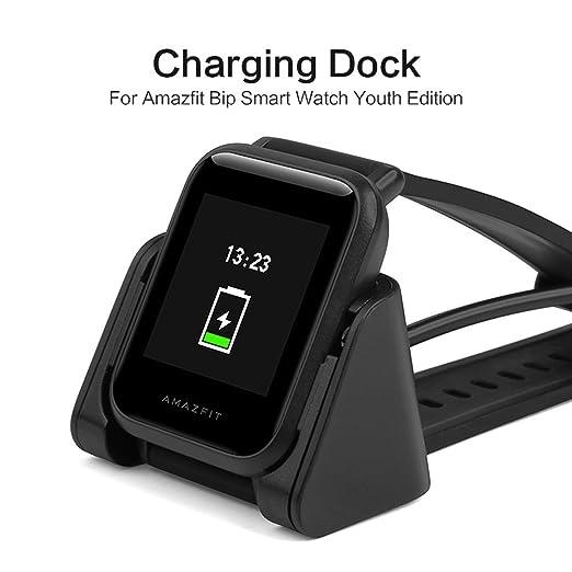 SIKAI USB Cable de Carga Reemplazo Cargador Compatible con Xiaomi Amazfit Bip Smartwatch Protable USB Cradle para Amazfit A1608 Recambios Cable de ...