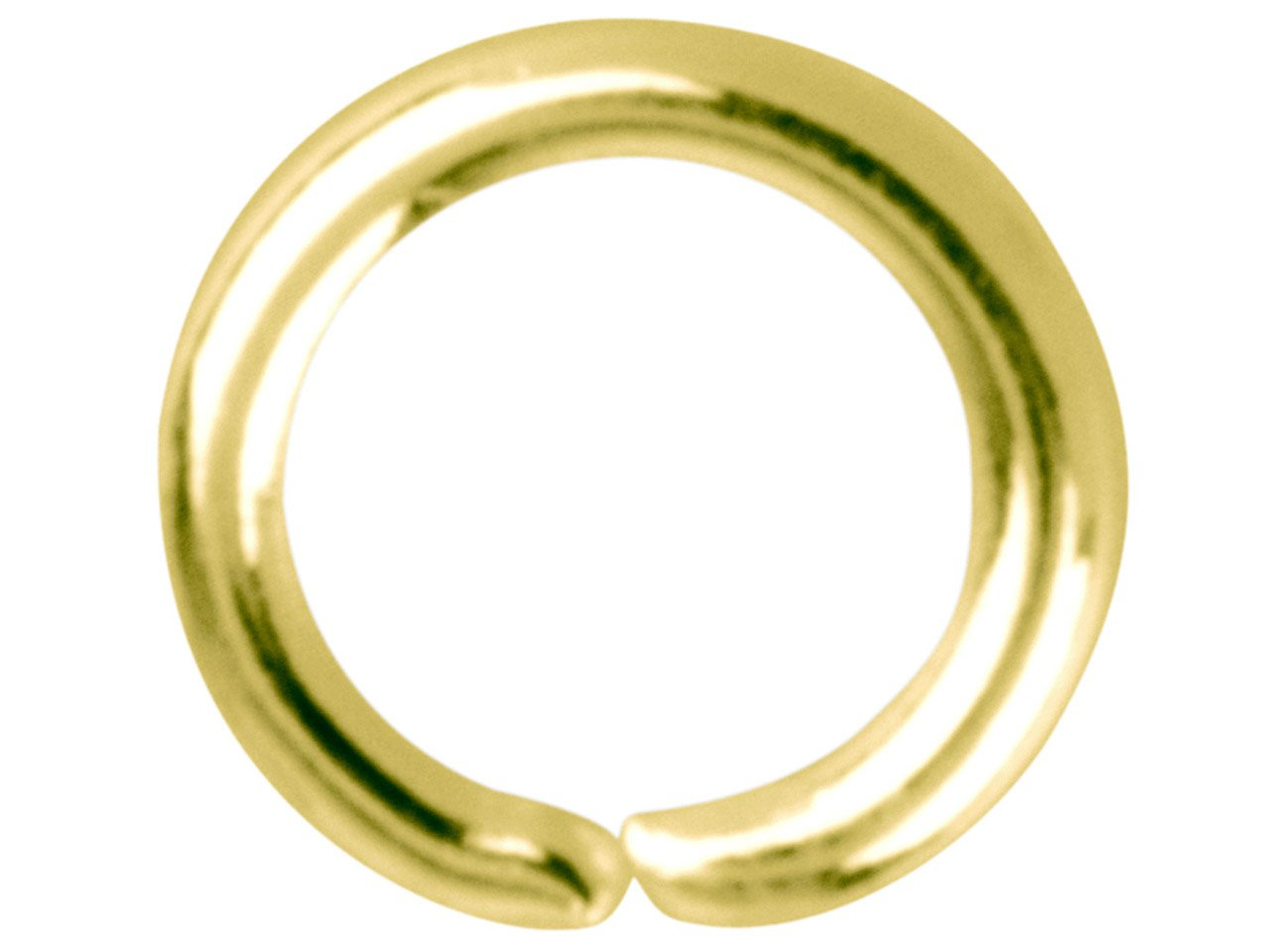 4mm X 3mm Cooksongold Gold Plated Jump Ring Oval 4mm Pack of 100