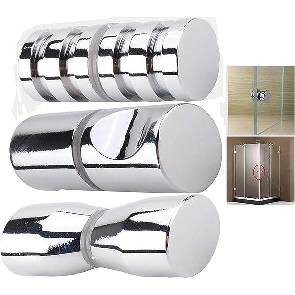 YUANQIAN 2 pares de manijas para puerta de ducha o pomo de acrílico transparente con forma de cono de alta calidad: Amazon.es: Bricolaje y herramientas