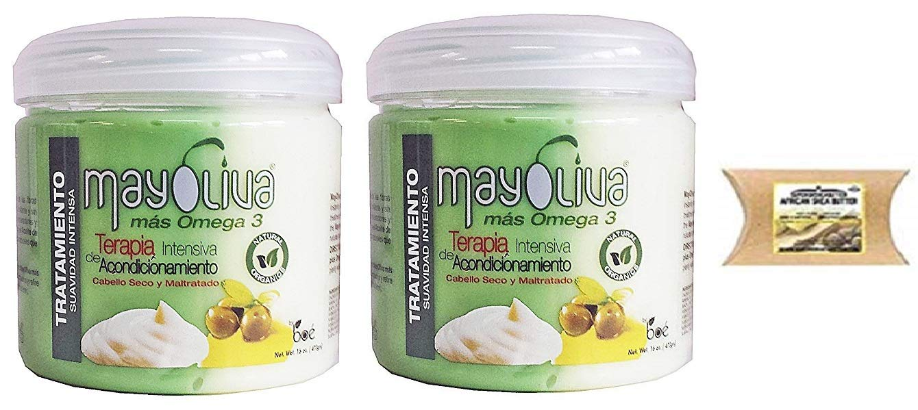 Boe Crece Pelo Mayolive Mas Omega 3 Hair Treatment 16 Oz (3PCS)