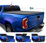 "Tyger Auto Black Top T3 Soft Tri-Fold Truck Tonneau Cover for 2015-2020 Chevy Colorado/GMC Canyon Fleetside 5'2"" Bed TG-BC3C1039"