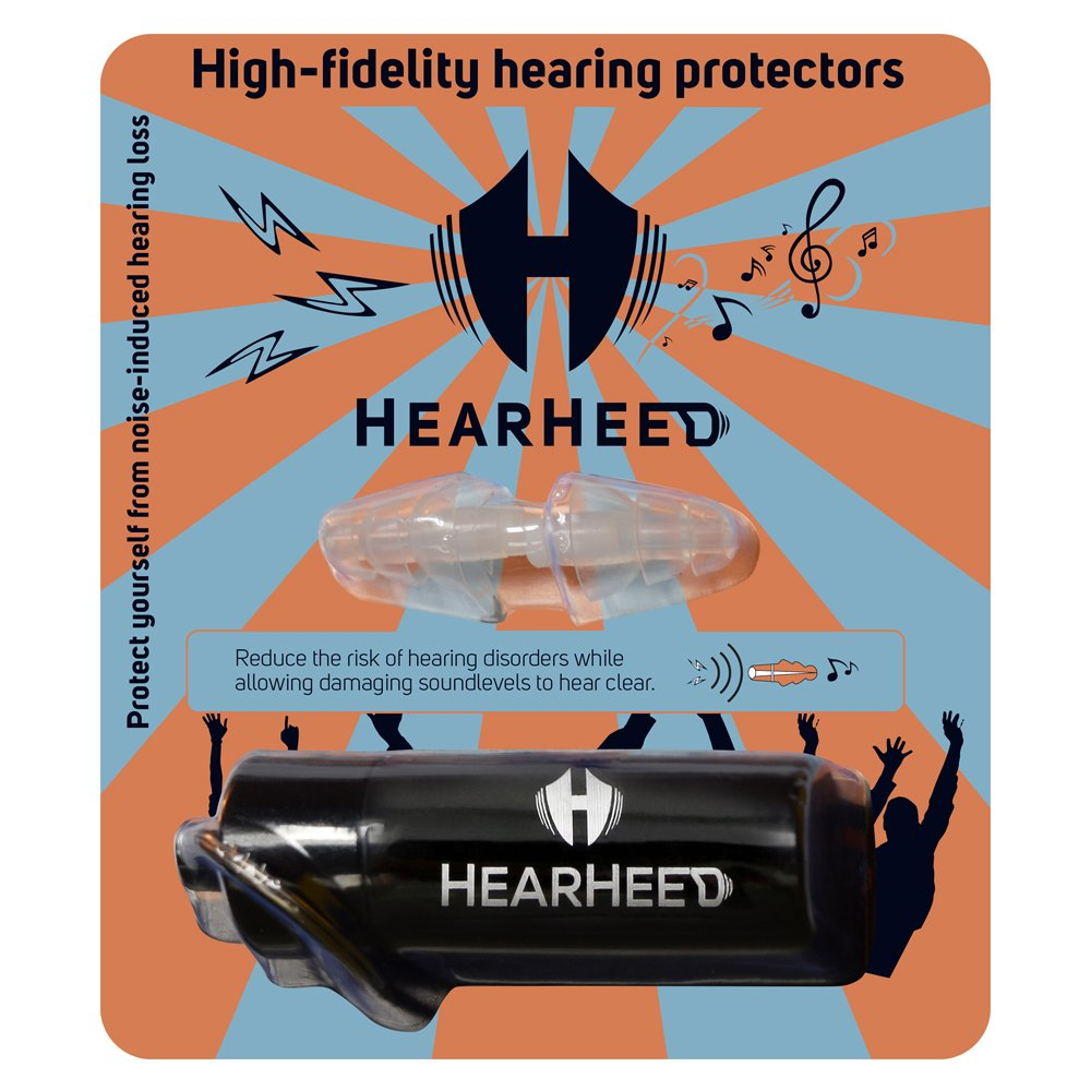 Hearheed High Fidelity Ear Plugs Noise Reduction - Hearing Protection Earplugs for Concerts Loud Live Music and More - DJs Clubbers Motorcycle Riding Construction Work Travel Flying Pressure Earplugs by Hearheed (Image #9)