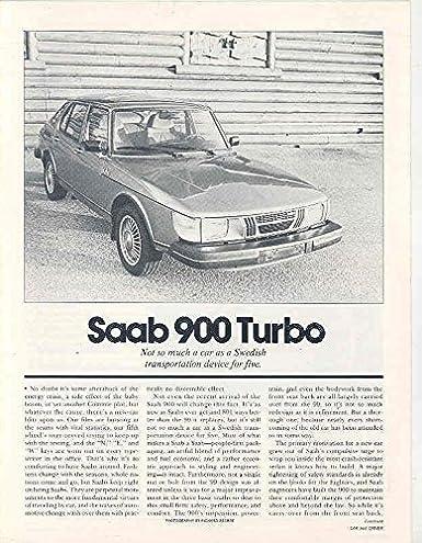 1980 Saab 900 Turbo Sales Brochure