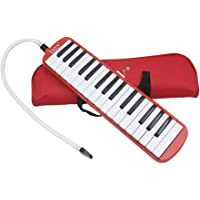 Andoer 32 Piano Keys Melodica Musical Education Instrument for Beginner Kids Children Gift with Carrying Bag Green