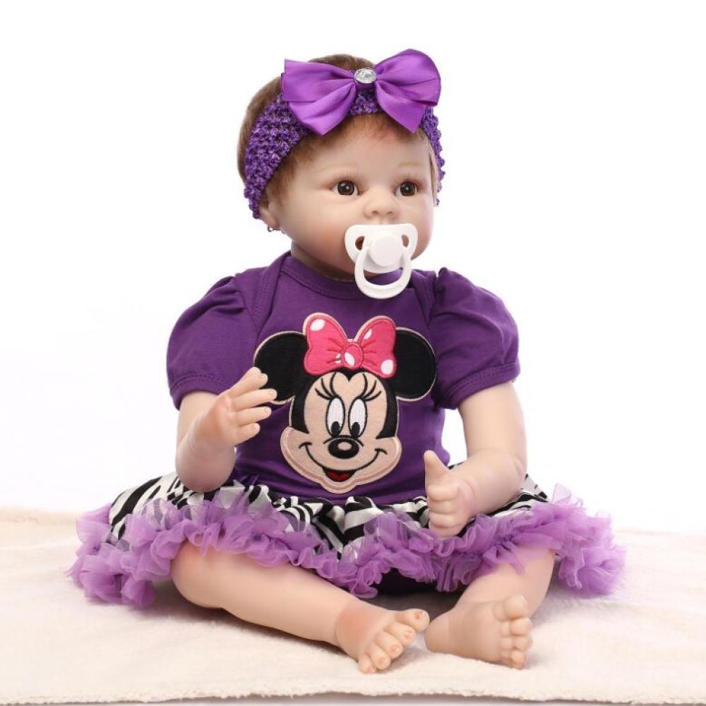 últimos estilos ADZPAB Reborn Baby Dolls Dolls Dolls Soft Silicone Toddler Realista Realista Newborn Dolls Baby Girl Toy 22 Pulgadas 55 cm  Los mejores precios y los estilos más frescos.