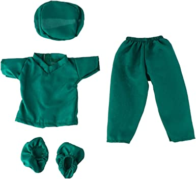 7 Set Doll Doctor Nurse Clothes Outfit Coat Pants Cap for 18Inch Our Generation
