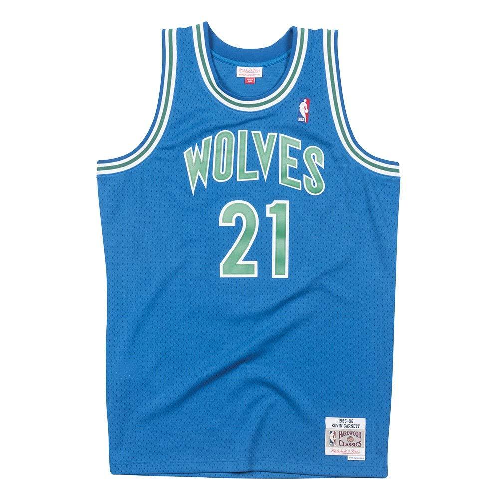 7877b8e64fef Amazon.com   Mitchell   Ness Minnesota Timberwolves Kevin Garnett 95-96  Road Swingman Jersey   Sports   Outdoors