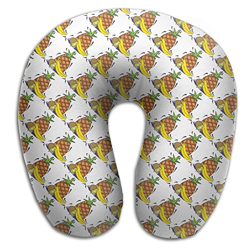 CY STORE Cartoon Pineapple Banana Kiwi U Type Pillow Neck Pillow Super Soft Cervical Pillows Travel Pillows With Resilient Material Gifts For ()
