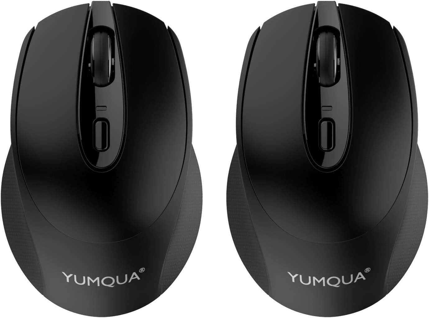 YUMQUA SB222-W Computer Mouse Wireless 2 Pack, 2.4GHz Optical Silent Mouse with Nano USB Receiver, 3 Adjustable DPI(Up to 1600), Cordless Mouse for Laptop PC Desktop Computer