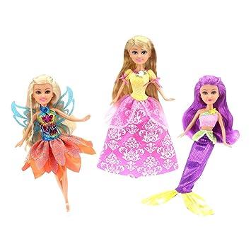 Amazon.es: ColorBaby - Muñecas Sparkle Girlz 27 cm - Hada, Princesa y Sirena (44501): Juguetes y juegos