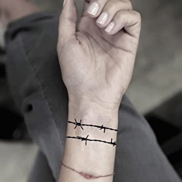 Amazoncom Barbed Wire Temporary Fake Tattoo Sticker Set