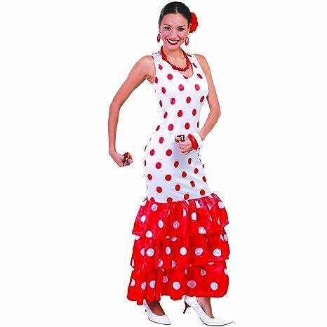 NET TOYS Vestito di Flamenco Costume da Spagnola L 46 48 - Ballerina di  Flamenco ea05e83a5dd