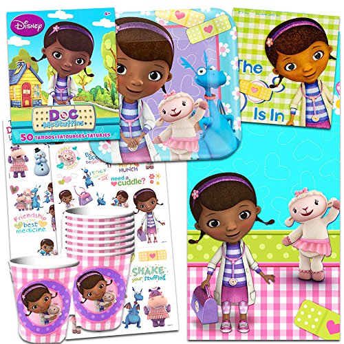 Disney Doc McStuffins Party Supplies Ultimate Set-- Birthday Party Favors, Plates, Cups, Napkins and More!