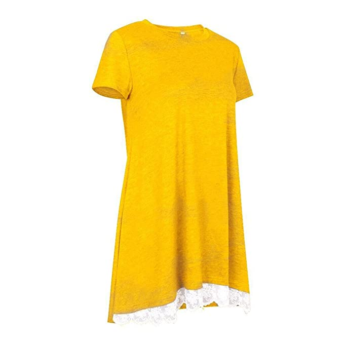 Amazon.com: OrchidAmor Womens Girls Comfy Tops Short Sleeve Lace Scoop Neck A-Line Tunic Blouse: Clothing