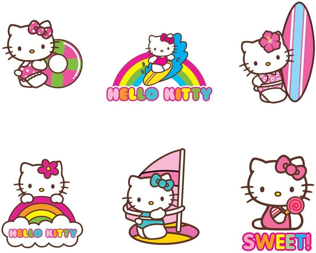 100 per Pack Birthday Party Supplies /& Favors Make Your Own Hello Kitty Stickers