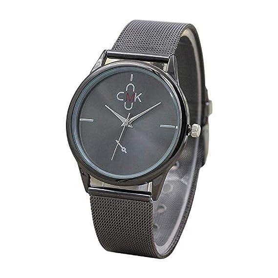 4cfb3d2e0 Reloj para Hombre Vestido de Moda para Hombre Reloj de Pulsera con Banda de  Malla Reloj