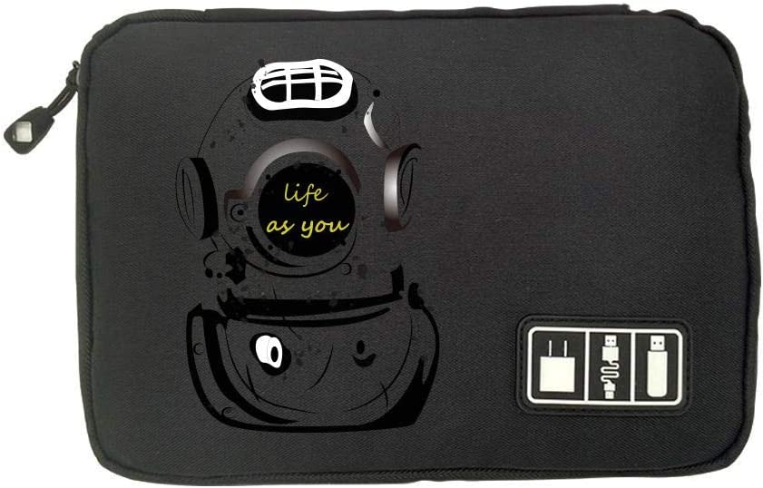 SD Memory Cards Cable Organizer Electronic Accessories Travel Bag Astronaut USB Flash Drive Case Bag Wallet