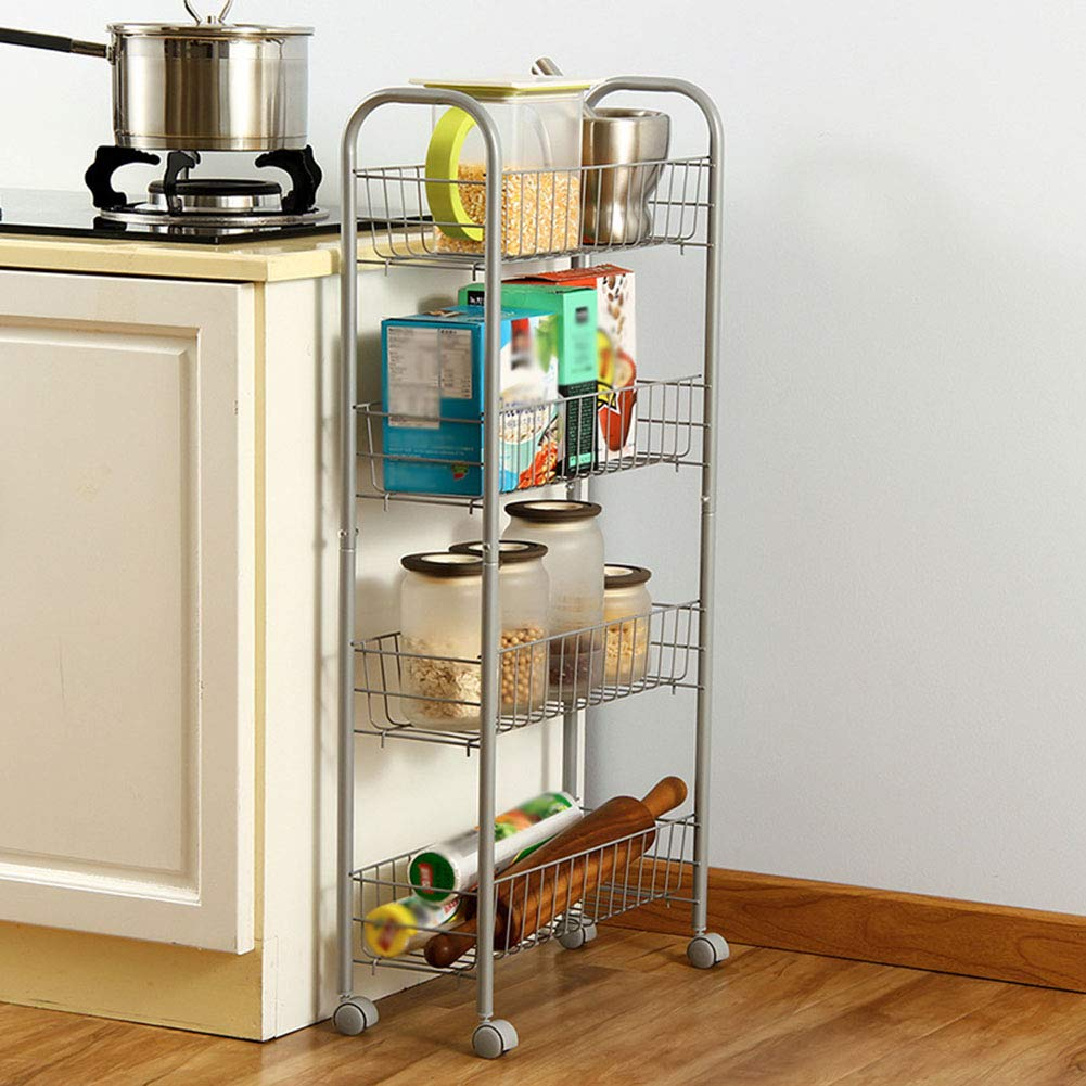 Shelf Storage Racks Storage Basket Shelf Baskets Oven Stand Kitchen Landing Four Floors It Can Move Finishing Rack Storage Rack ZHAOYONGLI by ZHAOYONGLI-shounajia (Image #2)