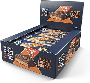 Sci-MX Nutrition Pro 2go Duo Barras Paquete De 12 - Rico en proteínas barra de nutrición - 12 x 60 g