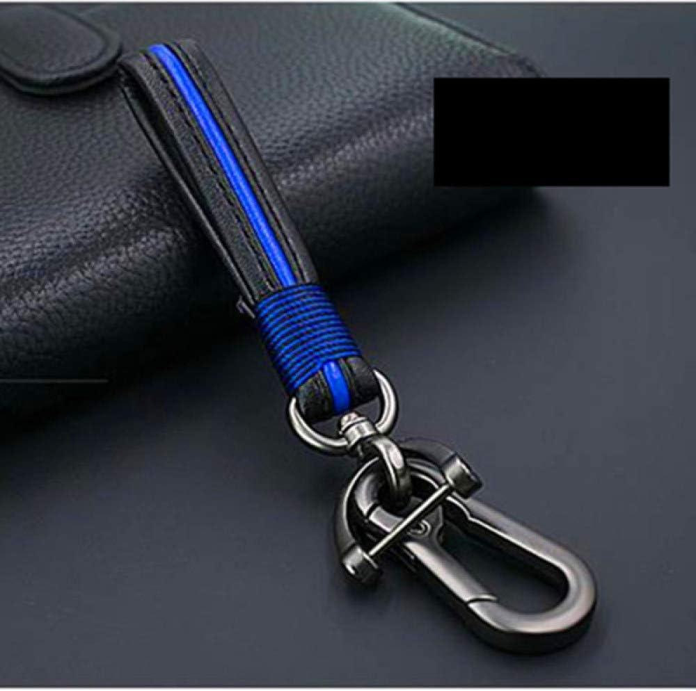 Azul llaveros Colgantes de Cintura para Hombre y Mujer Aptos para Audi BMW Volvo Lexus KIA Toyota Llavero para el hogar YANJHJY Llavero de Cuero Hecho a Mano para el hogar