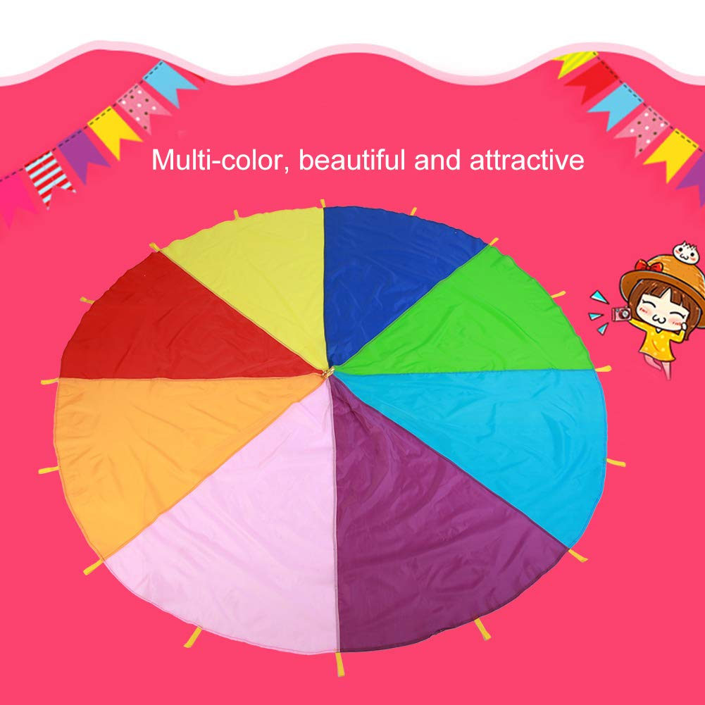 TMISHION Parachute, Children Fames Kindergarten Early Education Toy for Parties Sports Activities Group Outdoor Exercise, 3m 3.6m 6m(3M) by TMISHION (Image #8)