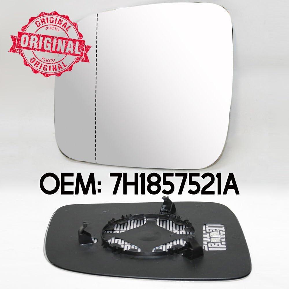 Specchietto retrovisore sinistro riscaldata grandangolare in vetro e base 7H1857521/A OEM