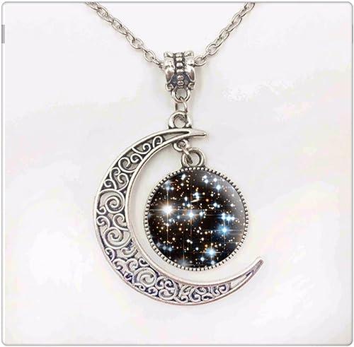 Cabochon Glass necklace Silver//Black//bronze pendant(yoga healing)