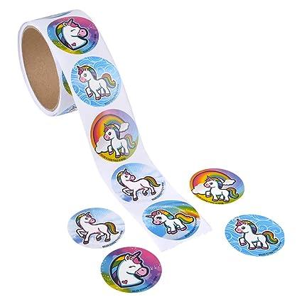 Amazon.com: 200 pegatinas de unicornio – 100 pegatinas por ...