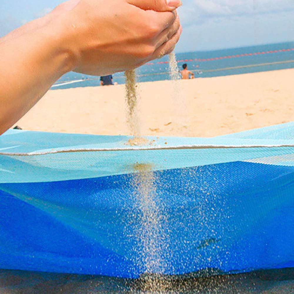 Daity Playa Manta Toalla de Playa Playa Matte para Camping, Picnic, Viaje, Jugar en la Playa 1, 5 * 2 m Azul sandfrei: Amazon.es: Jardín