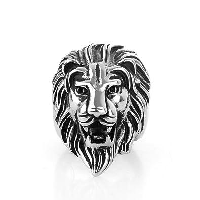 bague en argent homme lion